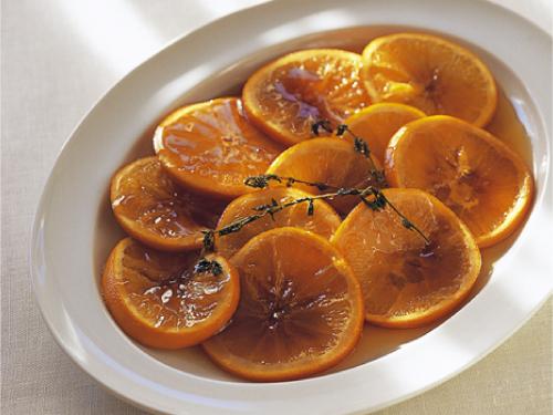 オレンジのメープルシロップ煮