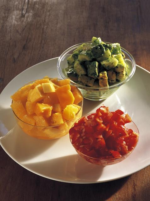 3色のサラダ