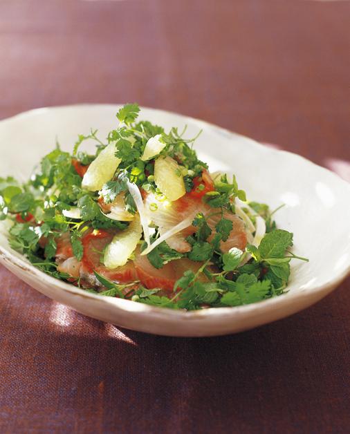 刺し身サラダ、メープルレモン風味