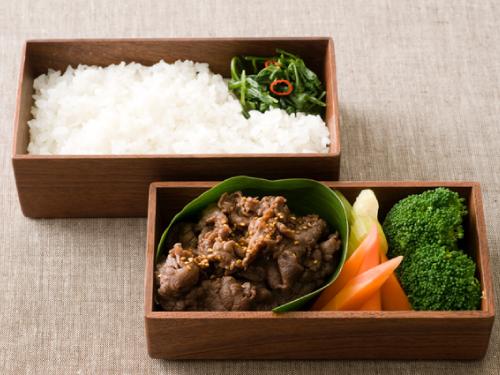 牛肉のメープルしぐれ煮お弁当