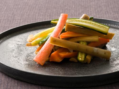 野菜のメープルみそ漬け