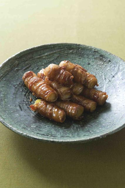 メープル豚肉のながねぎ巻き