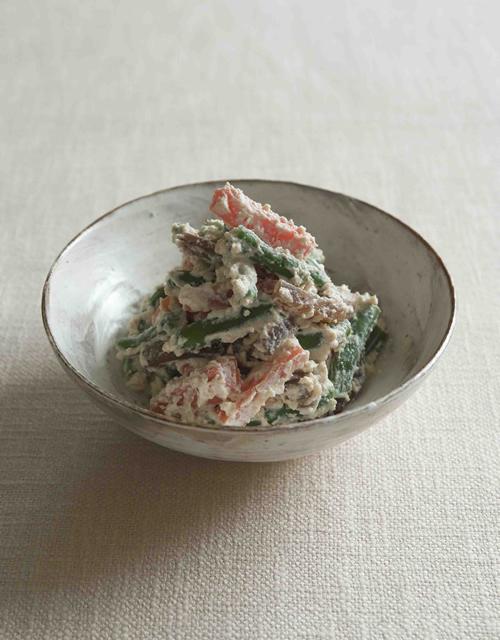 野菜のメープル白和え