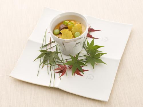 栗とメープルシロップのブリュレ 吹き寄せ盛り