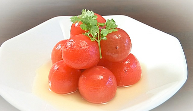 トマトのメープルコンポート
