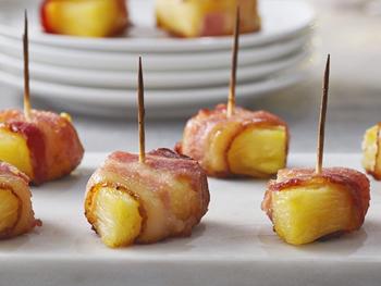 パイナップルのベーコン包み~メープル風味~