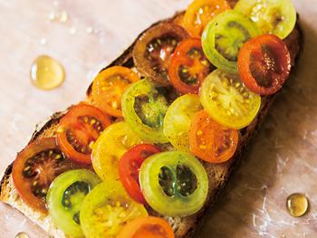 トマトのメープルマリネ タルティーヌ