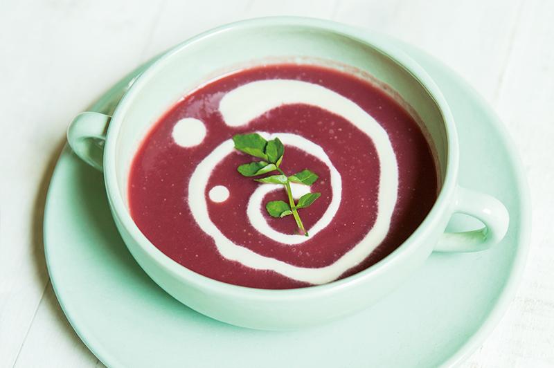 メープルスイートビーツスープ